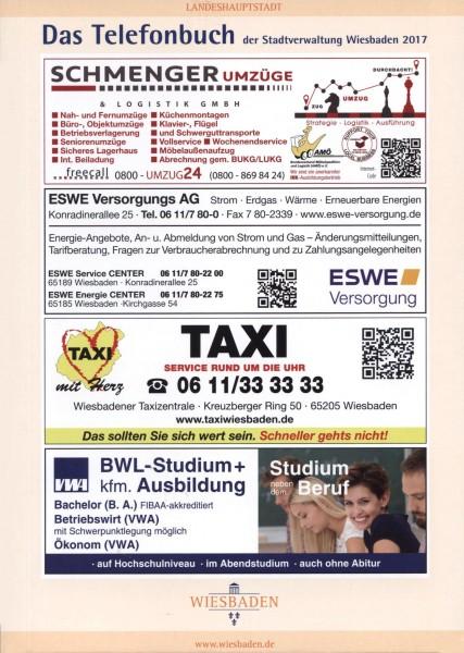 Das Telefonbuch der Stadtverwaltung Wiesbaden 2017