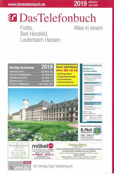Das Telefonbuch Fulda, Bad Hersfeld, Lauterbach Hessen 2019 / gültig bis Juni 2020