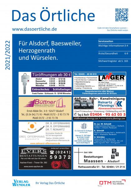 Das Örtliche für Alsdorf, Baesweiler, Herzogenrath und Würselen 2021/2022