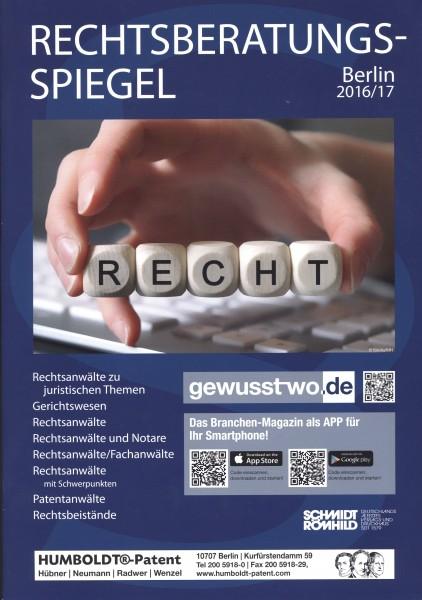Rechtsberatungs-Spiegel Berlin 2016/17