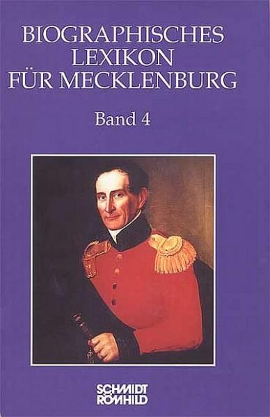 Biographisches Lexikon für Mecklenburg Band 4
