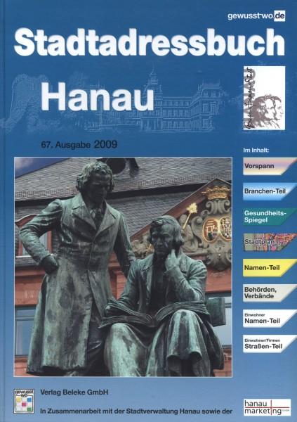 Stadtadressbuch Hanau 2009