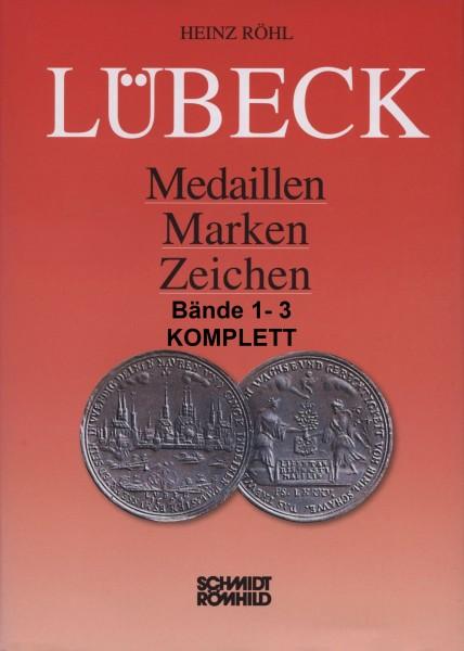 Lübeck - Medaillen, Marken, Zeichen Bände 1 bis 3 KOMPLETT