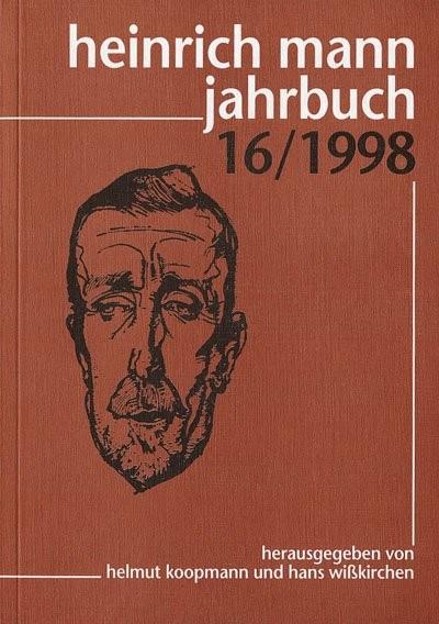 Heinrich Mann Jahrbuch 16 / 1998