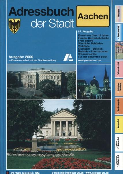 Adressbuch der Stadt Aachen 2000