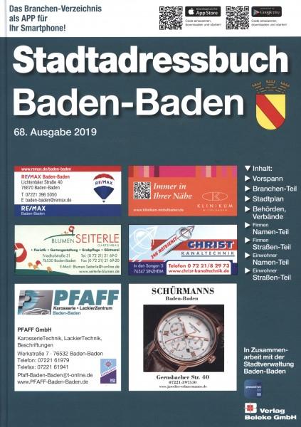 Stadtadressbuch Baden-Baden 2019