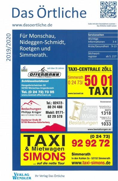 Das Örtliche für Monschau, Nideggen-Schmidt, Roetgen und Simmerath 2019/2020