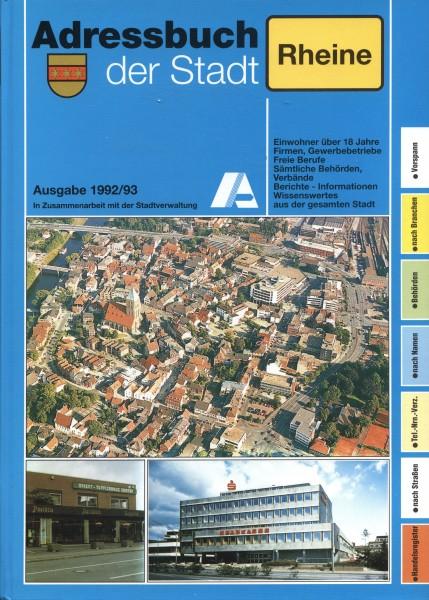 Adressbuch der Stadt Rheine 1992/93