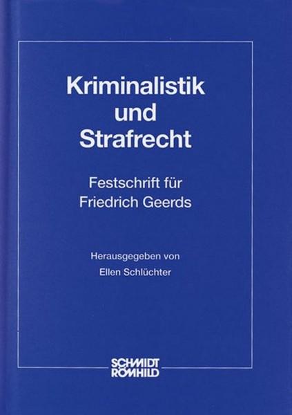 Kriminalistik und Strafrecht