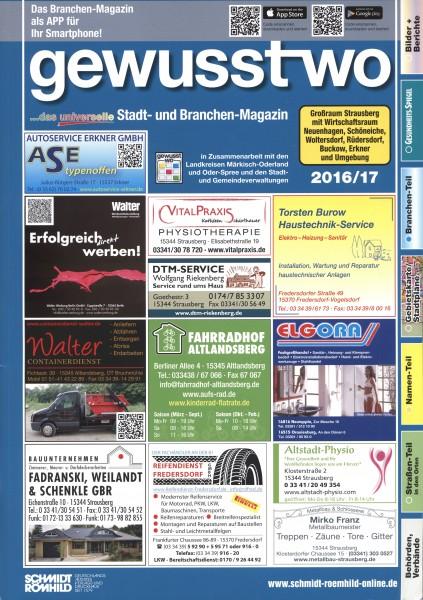 gewusst-wo Großraum Strausberg 2016/17