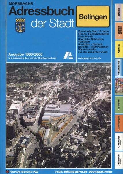 Adressbuch der Stadt Solingen 1999/2000