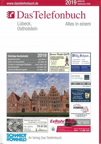 Das Telefonbuch Lübeck, Ostholstein 2019 / gültig bis September 2020
