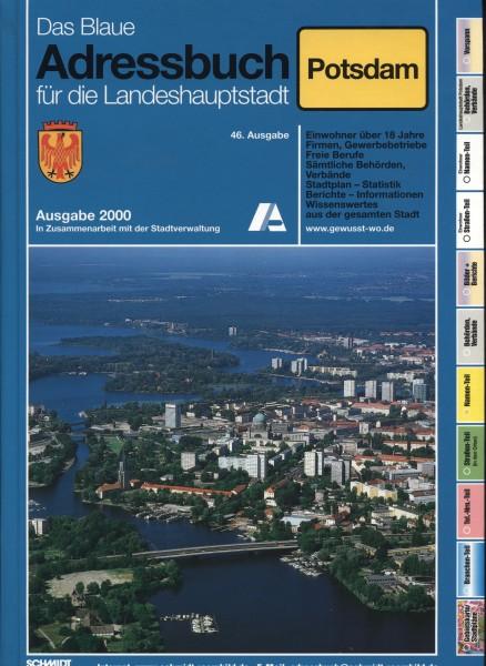 Das Blaue Adressbuch für die Landeshauptstadt Potsdam 2000