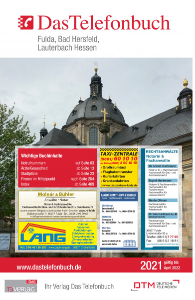 Das Telefonbuch Fulda, Bad Hersfeld, Lauterbach Hessen 2021