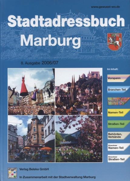 Stadtadressbuch Marburg 2006/07