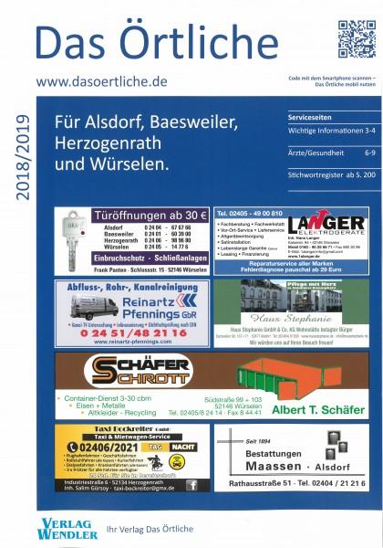 Das Örtliche für Alsdorf, Baesweiler, Herzogenrath und Würselen 2018/2019