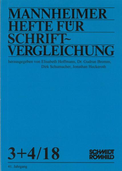Einzelheft: Mannheimer Hefte für Schriftvergleichung