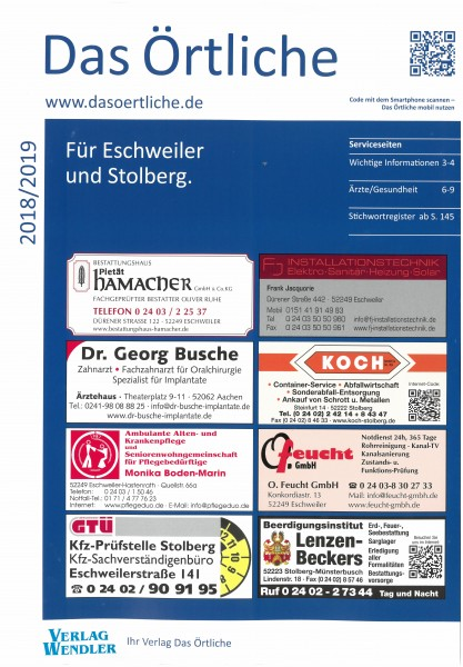Das Örtliche für Eschweiler und Stolberg 2018/2019