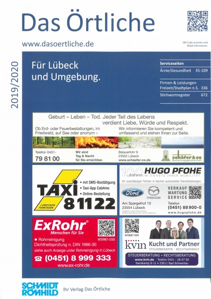 Das Örtliche für Lübeck und Umgebung 2019/2020