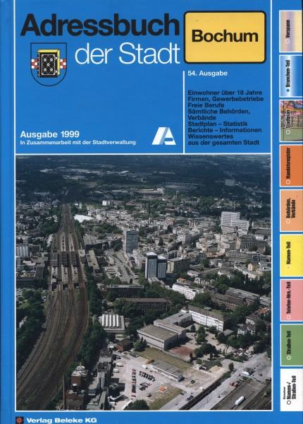Adressbuch der Stadt Bochum 1999
