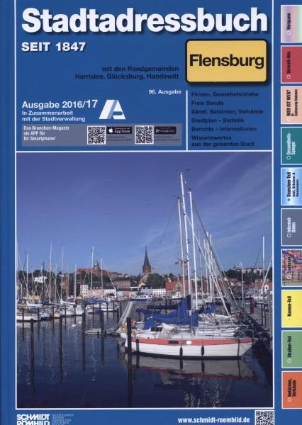 Stadtadressbuch Flensburg 2016/17 mit den Randgemeinden Harrislee, Glücksburg, Handewitt