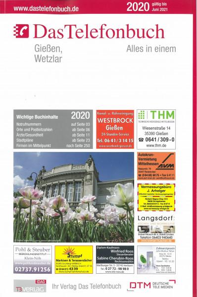 Das Telefonbuch Gießen/Wetzlar 2020 / gültig bis Juni 2021