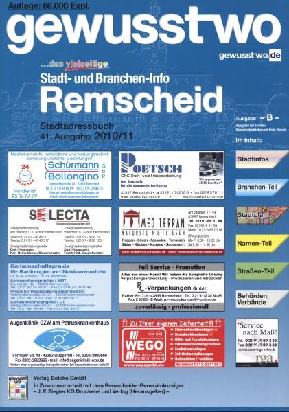 gewusst-wo Remscheid 2010/11