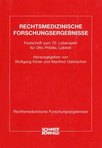 Festschrift zum 70. Lebensjahr für Prof. Dr. med. Otto Pribilla