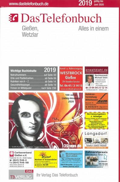 Das Telefonbuch Gießen, Wetzlar 2019 / gültig bis Juni 2020