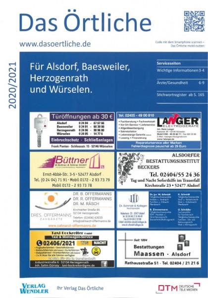 Das Örtliche für Alsdorf, Baesweiler, Herzogenrath und Würselen 2020/2021