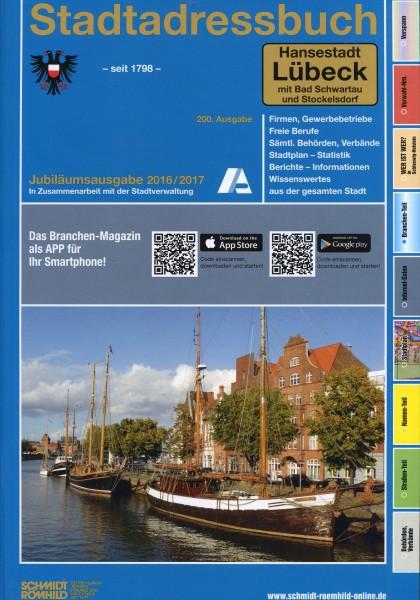 Stadtadressbuch Hansestadt Lübeck mit Bad Schwartau und Stockelsdorf 2016/2017
