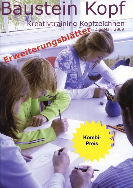 Baustein Kopf + Erweiterungsblätter - KOMBI
