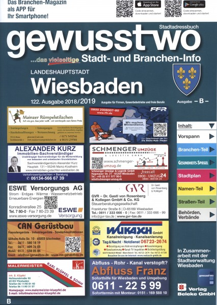 gewusst-wo Landeshauptstadt Wiesbaden 2018/2019