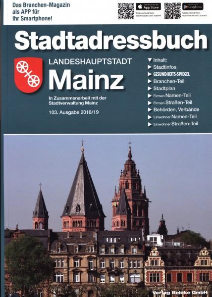 Stadtadressbuch Landeshauptstadt Mainz 2018/19