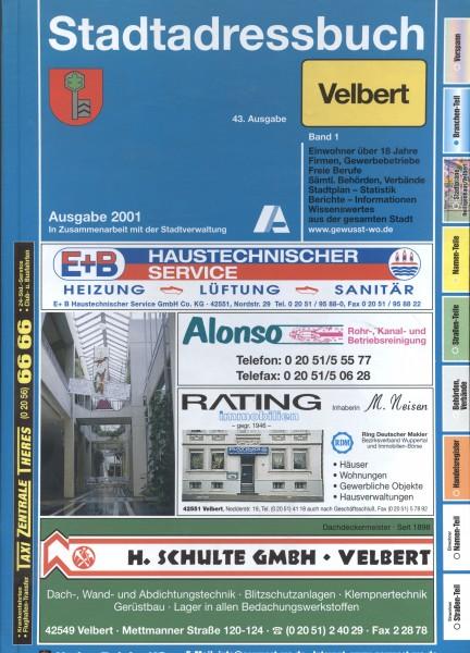 Stadtadressbuch Velbert 2001