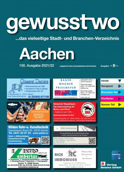 gewusst-wo Aachen 2021/22