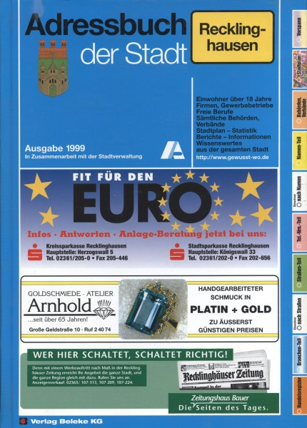 Adressbuch der Stadt Recklinghausen 1999